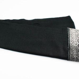 Crochet Lace Hijab Black 2