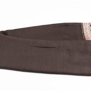 Crochet Lace Hijab Chocolate 1