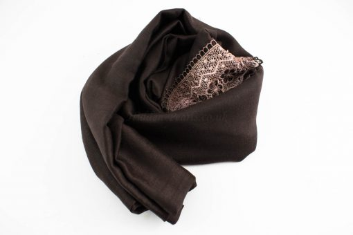Crochet Lace Hijab Chocolate 2