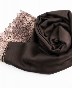 Crochet Lace Hijab Chocolate 3