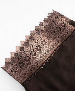 Crochet Lace Hijab Chocolate 4