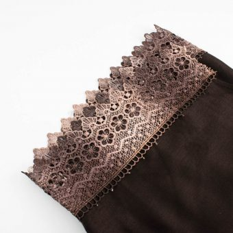 Crochet Lace Hijab Chocolate 4