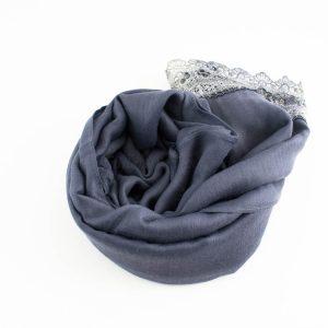 Crochet Lace Hijab Dark grey 4