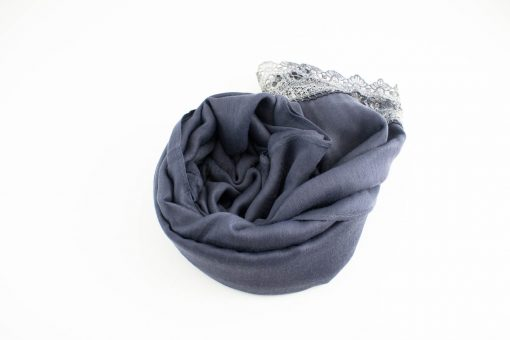 Crochet Lace Hijab Dark grey 4