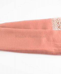 Crochet Lace Hijab Dusty Pink 1