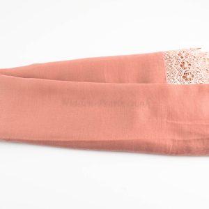 Crochet Lace Hijab Dusty Pink 1