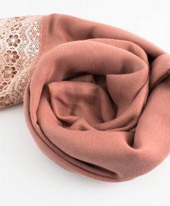 Crochet Lace Hijab Dusty Pink 5