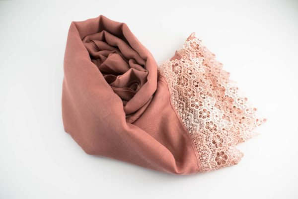 Crochet Lace Hijab Dusty Pink 6
