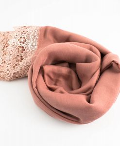 Crochet Lace Hijab Dusty Pink3