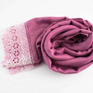 Crochet Lace Hijab Spanish Pink 1