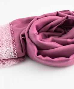 Crochet Lace Hijab Spanish Pink 2
