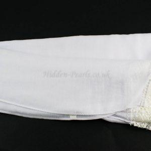 Crochet Lace Hijab White 3