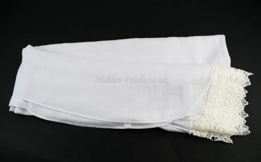 Crochet Lace Hijab White 3