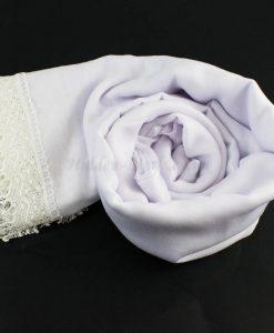 Crochet Lace Hijab White 4