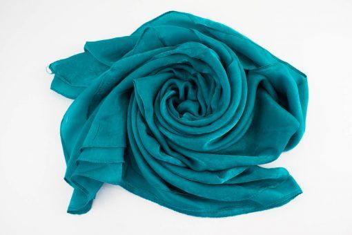 Deluxe Plain Hijab Azure Blue 1