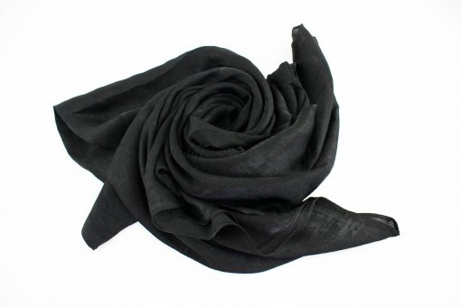 Deluxe Plain Hijab Black 1