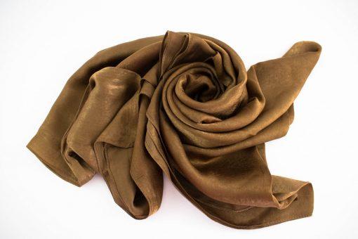 Deluxe Plain Hijab Deep Bronze 1