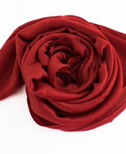 Deluxe Plain Hijab Deep Red