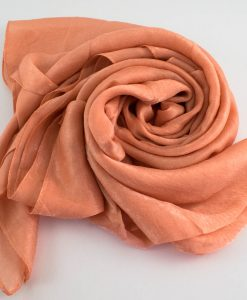 Deluxe Plain Hijab Light Peach 1