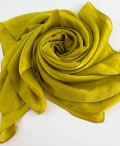 Deluxe Plain Hijab Lime Green 1