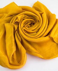 Cashere hijab - mustard - hidden pearls
