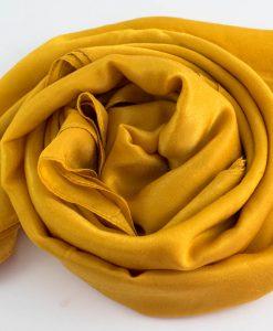 Deluxe Plain Hijab Mustard 3