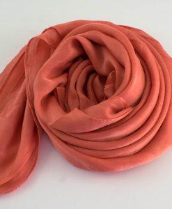 Deluxe Plain Hijab Peach