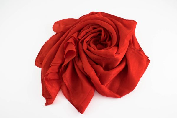 Deluxe Plain Hijab Red 1