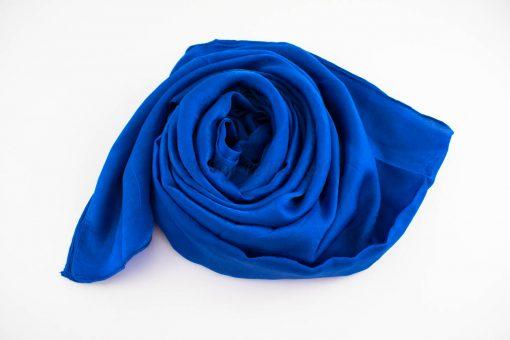 Deluxe Plain Hijab Royal Blue 2
