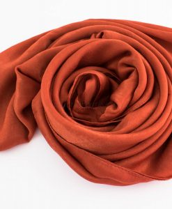 Deluxe Plain Hijab Rust 3