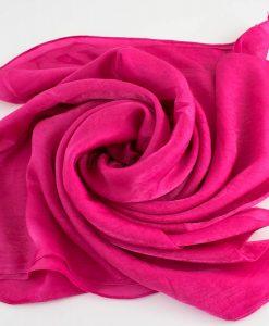 Deluxe Plain Hijab Shocking Pink 1
