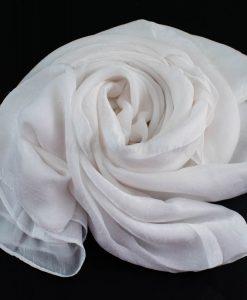 Deluxe Plain Hijab White 1