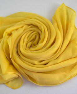 Deluxe Plain Hijab Yellow 1