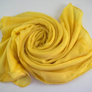 Deluxe Plain Hijab Yellow 1