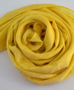 Deluxe Plain Hijab Yellow 3