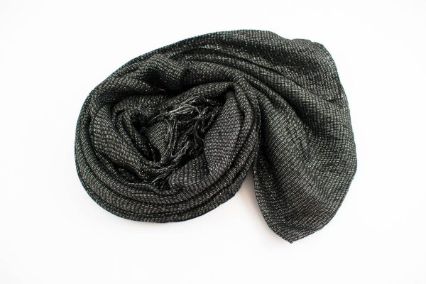 Shimmer Hijab Black & Silver 2