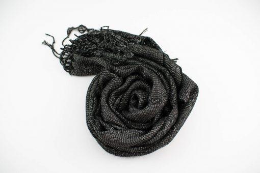 Shimmer Hijab Black & Silver