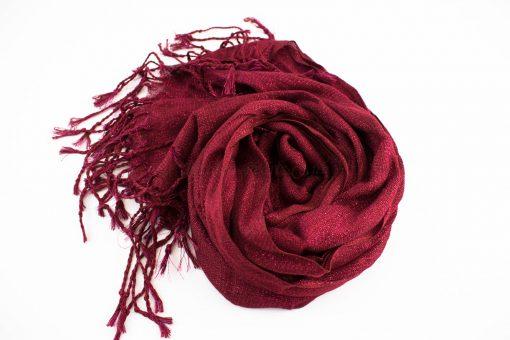 Shimmer Hijab Burgundy 2