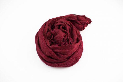 Shimmer Hijab Burgundy 3