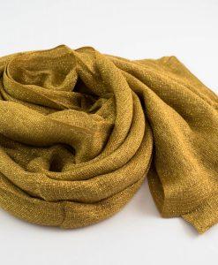 Shimmer Hijab Deep Gold 3