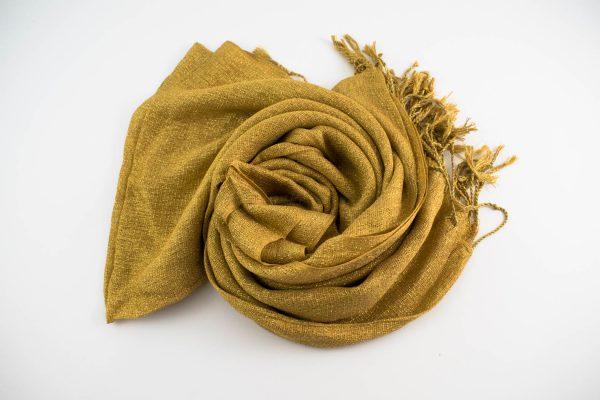 Shimmer Hijab Deep Gold