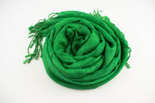 Shimmer Hijab Islamic Green 2