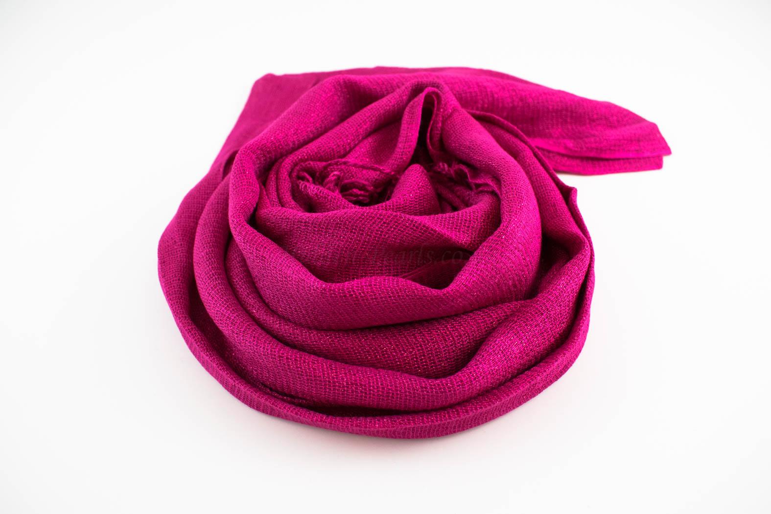 Shimmer Hijab Shocking Pink 2