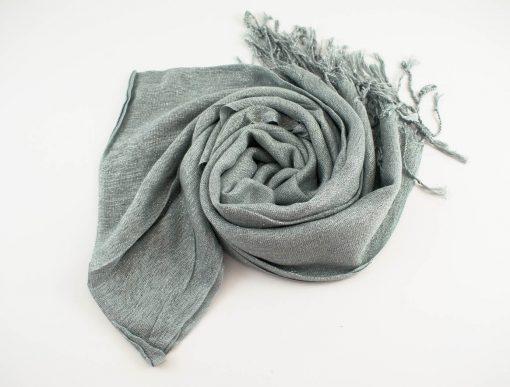 Shimmer Hijab Silver 2