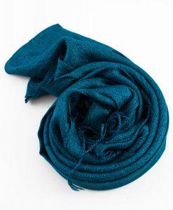 Shimmer Hijab Teal Blue 2