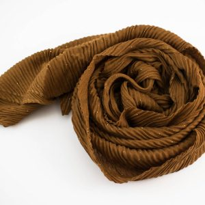 Glitter Crinkle Hijab Golden Brown