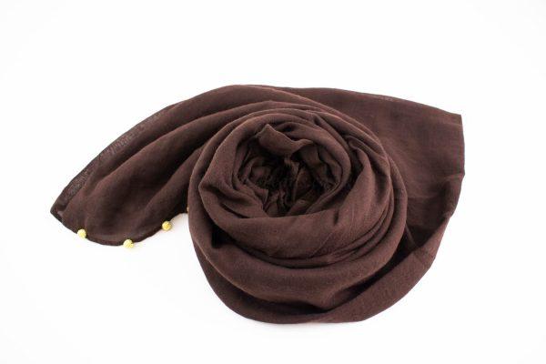 Pearl Globe Hijab Chocolate 2