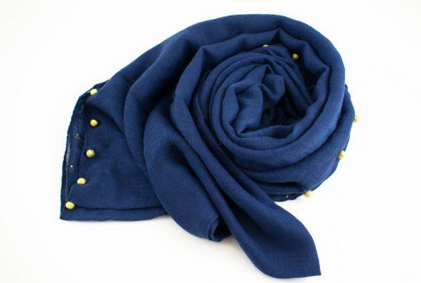 Pearl Globe Hijab Midnight Blue