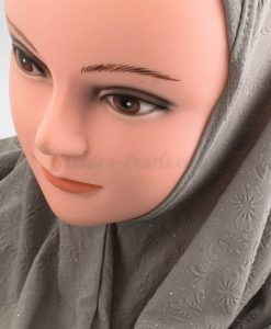 Women's Subtle Shimmer Al-Amira Hijab - Light Grey - hidden Pearls