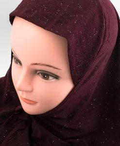 Women's Subtle Shimmer Al-Amira Hijab - Rosewood - Hidden Pearls